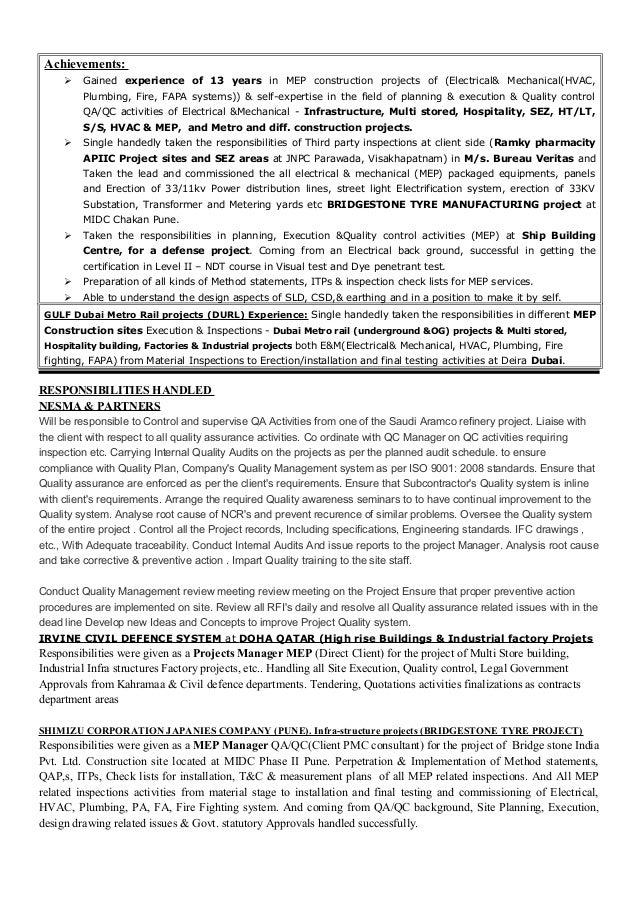 Resume sivakumar sktj - Bureau veritas industrial services ...