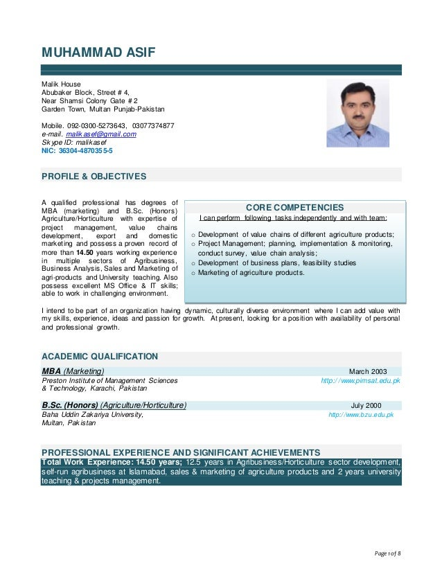 asif u0026 39 s cv for linkedin 2