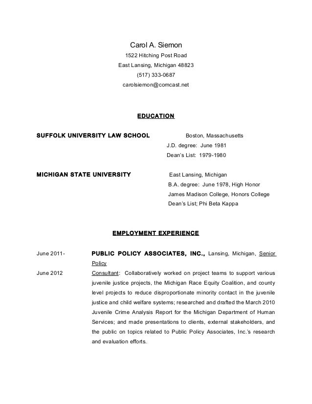 resume attorney bar admissions