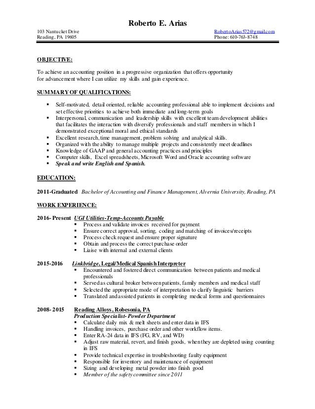 Famous Temp Accounting Resume London Gallery - Administrative ...