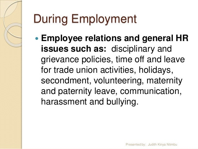 employee relations issues The course modules selected for pds focus on issues and topics of interest to employee and labor relations specialists and other practitioners that advise management on performance, conduct, or other workplace issues.