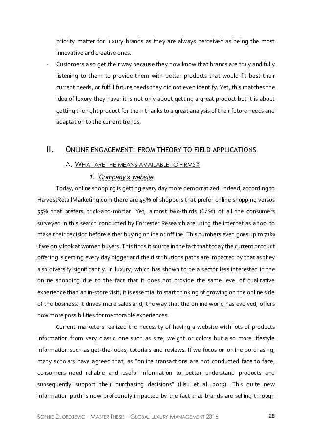 luxury brand thesis Luxury designer handbag or counterfeit an investigation into the antecedents influencing women's purchasing behaviour of luxury designer and counterfeit brands a thesis submitted for the degree of doctor of philosophy.