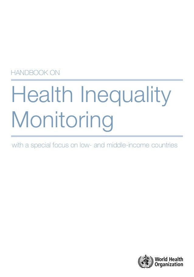 Health Inequality Monitoring: with a special focus on low- and middle-income countries Slide 3