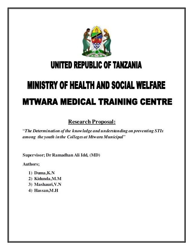 mfano wa research proposal