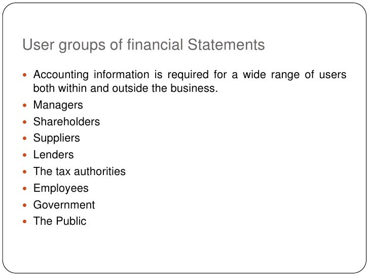 users of financial information [supersedes apes 315 compilation of financial information issued in november  2009]  common financial information needs of a wide range of users.