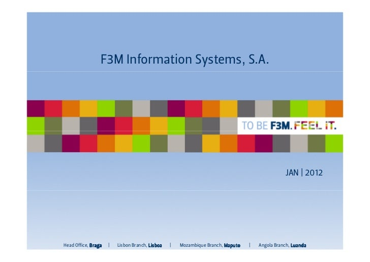 F3M I or aton Syst s,S.A.                  nf m i        em                                                               ...