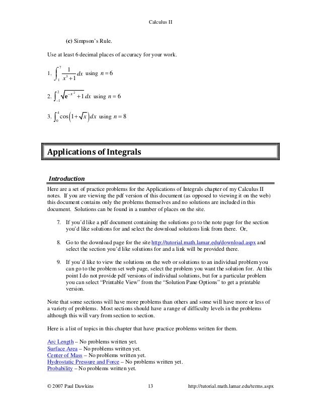 calculus 2 paul dawkins pdf