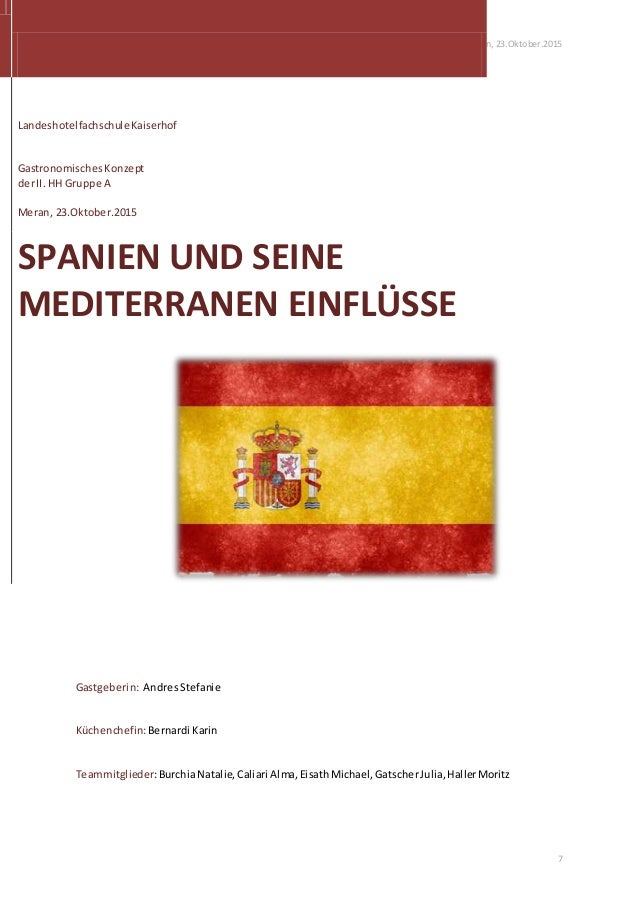 Andres Stefanie Meran, 23.Oktober.2015 7 Gastgeberin: AndresStefanie Küchenchefin:Bernardi Karin Teammitglieder:BurchiaNat...