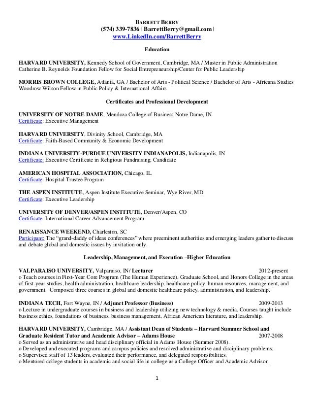 Barrett Berry Resume Gen
