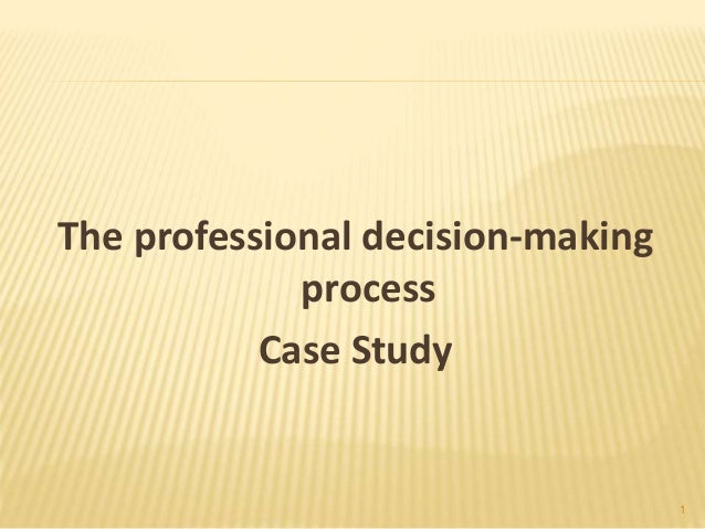 i dont make decisions case study How to make decisions think about what the worst case scenario of each decision would be don't feel like you have to make a tough decision all by yourself.