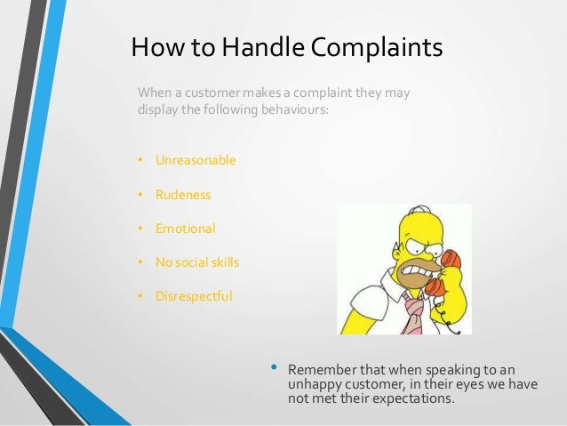 Complaint handling training presentation.