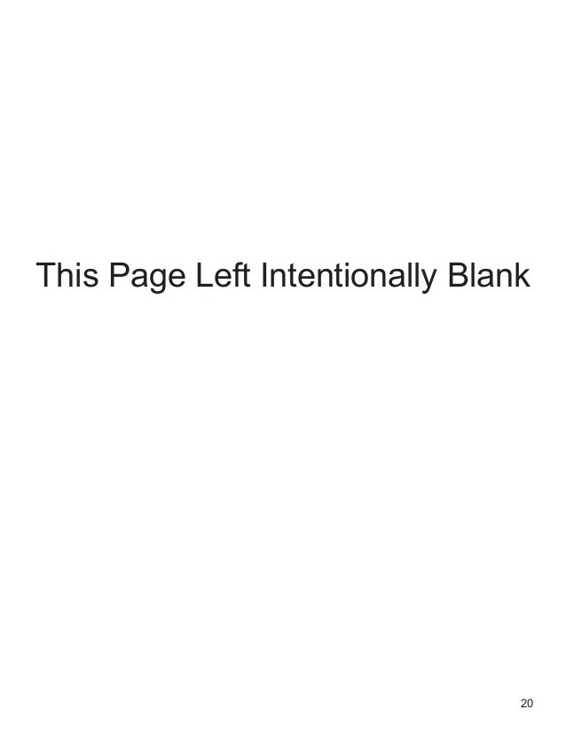 20 This Page Left Intentionally Blank