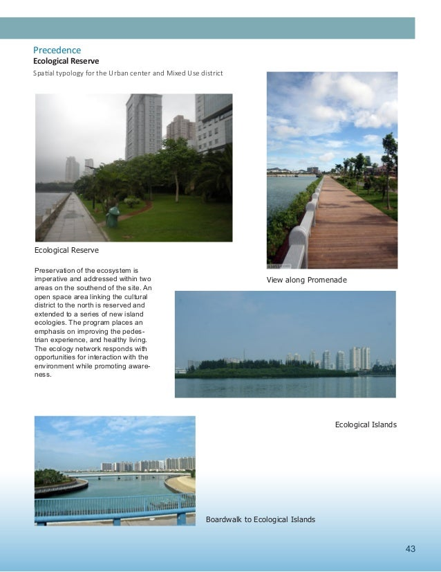 43 Ecological Reserve View along Promenade Ecological Islands Boardwalk to Ecological Islands Preservation of the ecosyste...