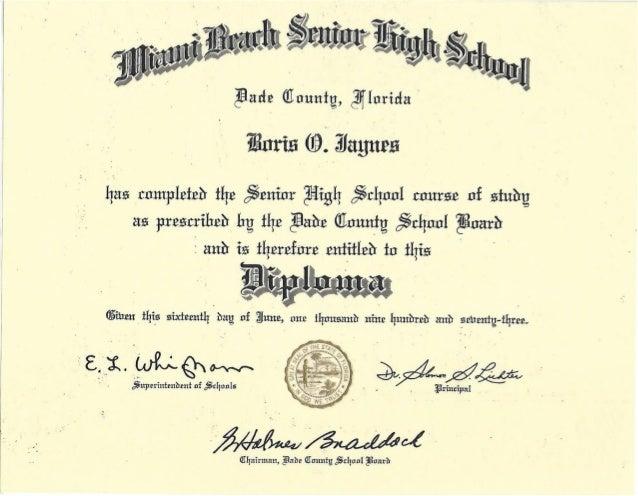 high school deploma
