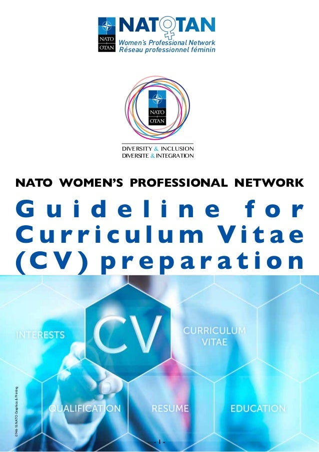 Guidelines for CV Preparation (NATO)