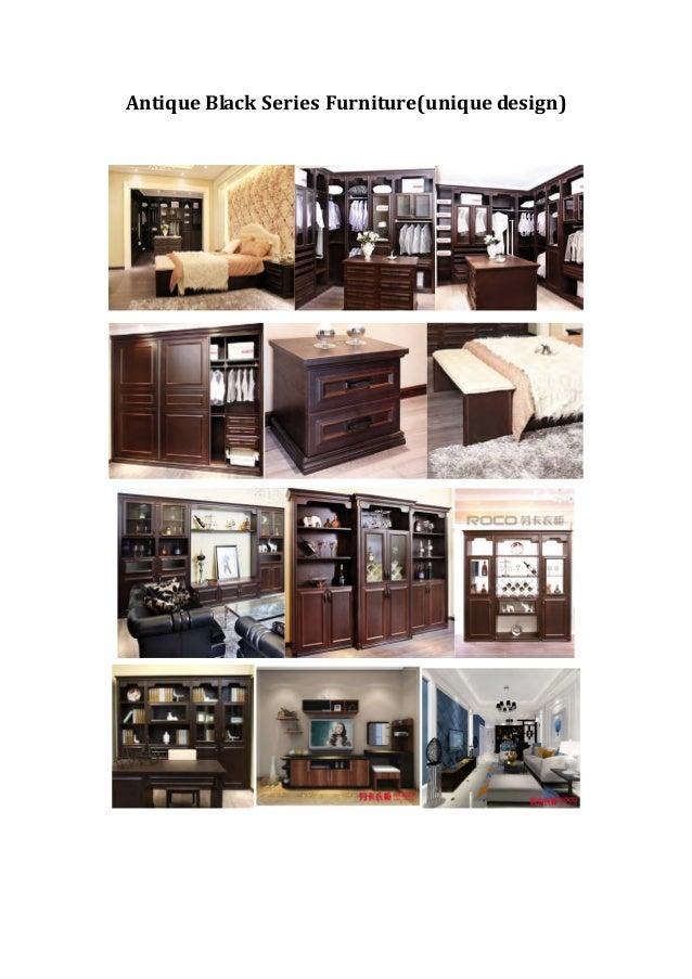 Antique Black Series Furniture unique design. ROCO Furniture Catalogue