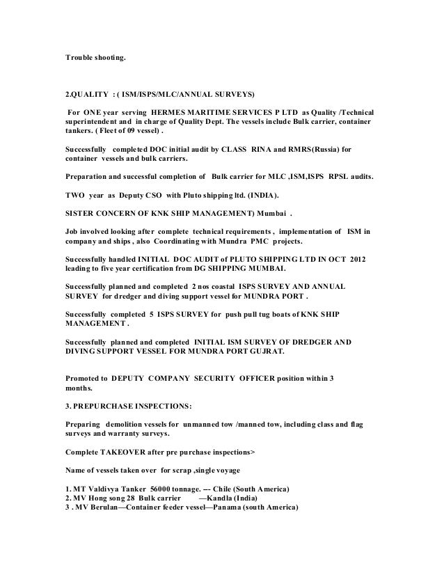 Cruise Ship Security Officer Sample Resume] Cruise Ship ...
