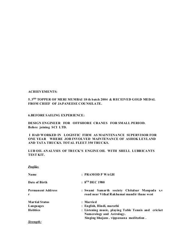 updated pramod p wagh shore resume