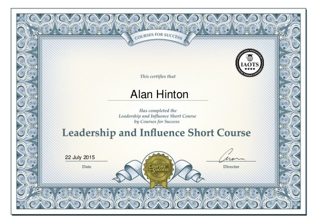 Leadership And Influence Online Short Course Certificate