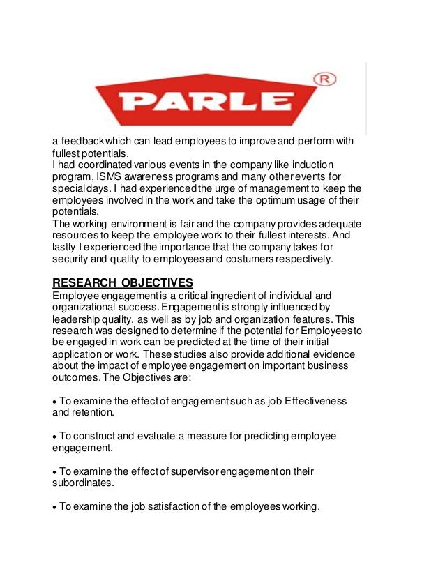 parle g objectives Parle project- pdf 34,168 views share like download  parle g – the evolution  depending on their objectives.