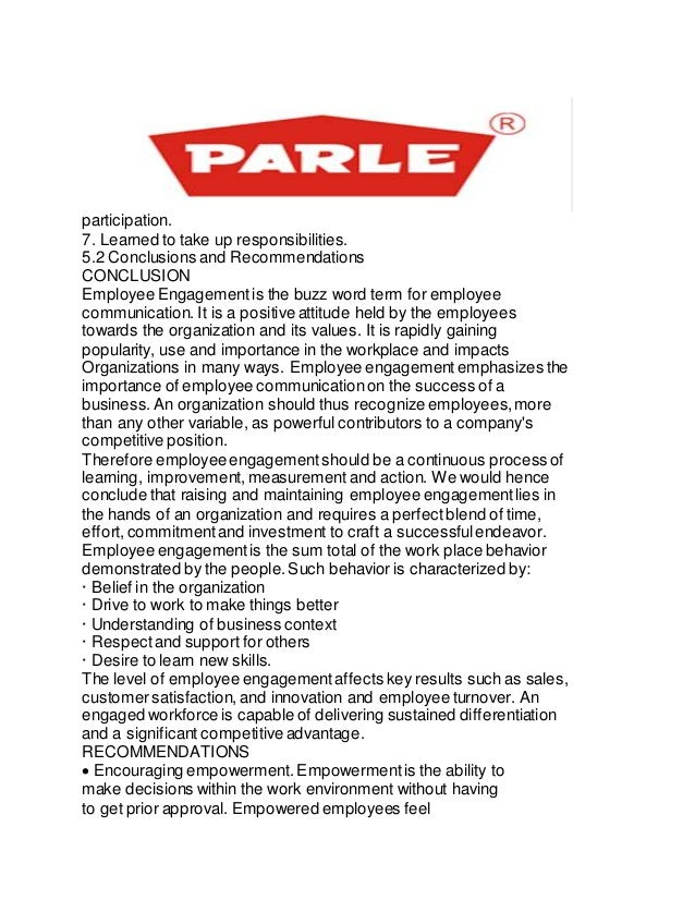 training repot on parle g company Parle g report - download as word doc (doc), pdf file (pdf), text file (txt) or read online.