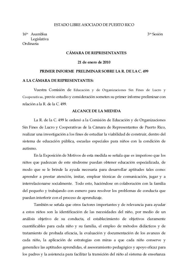 ESTADO LIBRE ASOCIADO DE PUERTO RICO16ta Asamblea                                                                3ra Sesió...