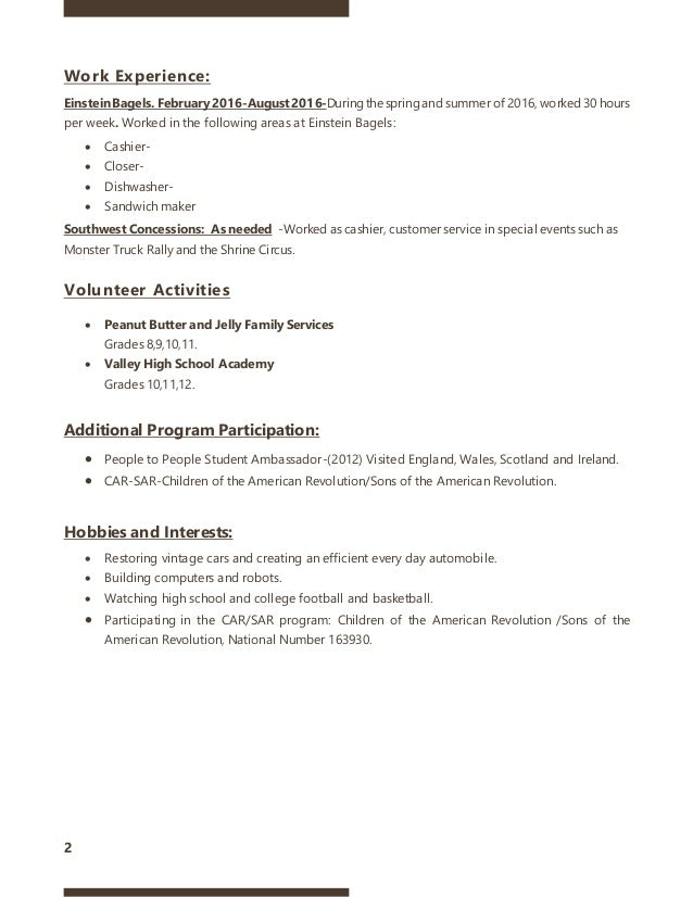 sandwich maker resume - Template