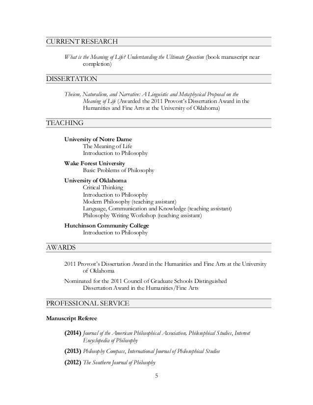 Curriculum Vitae Joshua Seachris With Additional Ed Copy