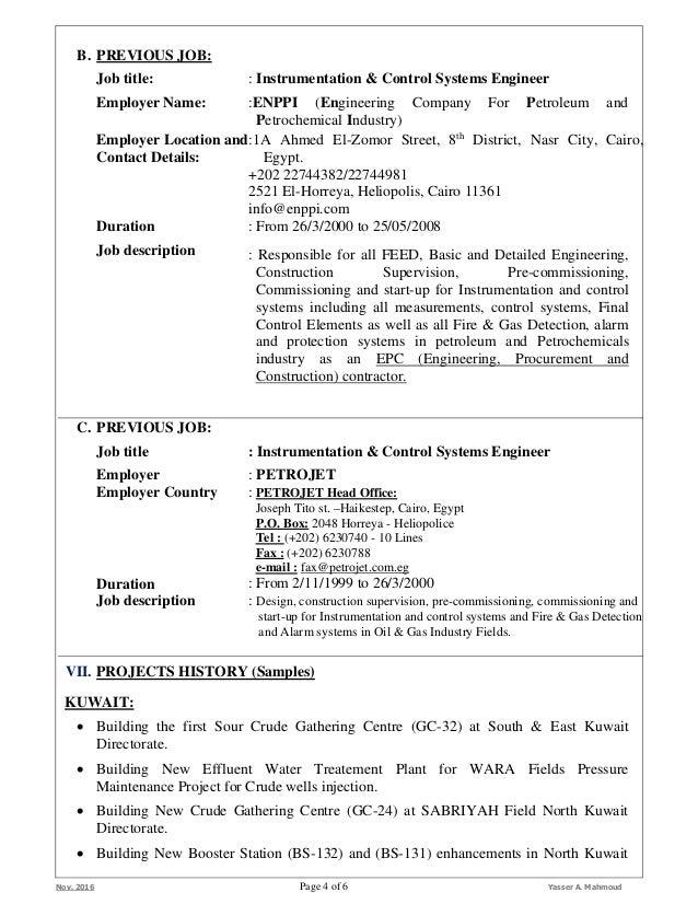 Resume & Certificates (Yasser M) (Instrumentation & Control Engr.) No…