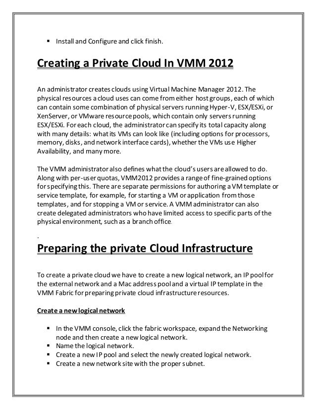 Private Cloud With System Center Project