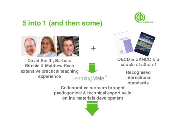 5 into 1 (and then some) + OECD & UKNCC & a couple of others! David Smith, Barbara Ritchie & Matthew Ryan couple of others...