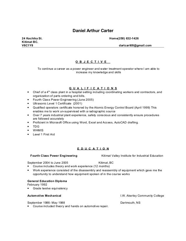 4th class power engineer resume sle - 28 images - cv format for ...