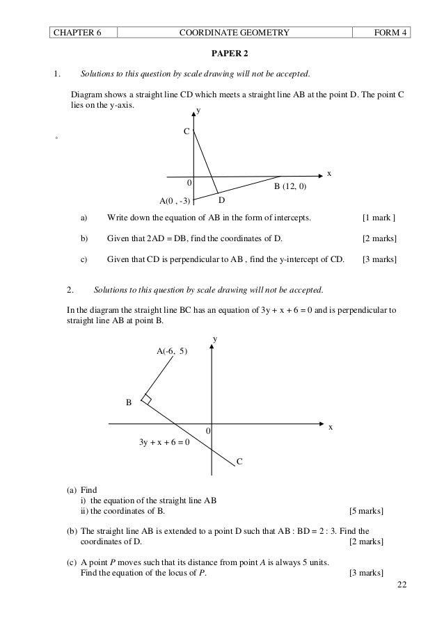 F4 Add Maths - Coordinate Geometry