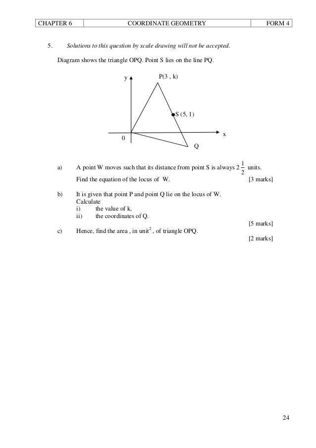 F4 add maths coordinate geometry 5 chapter 6 coordinate geometry ccuart Images
