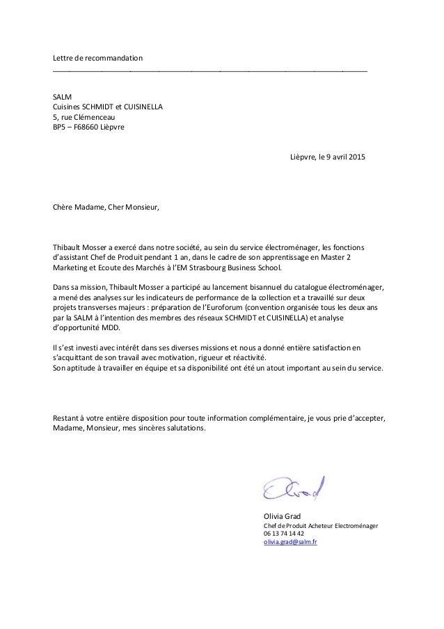 Lettre de recommandation Thibault Mosser 09.04.15