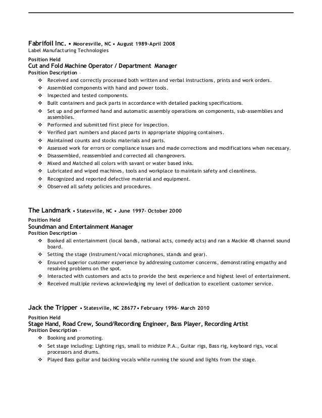fantastic stagehand resume sample composition resume ideas