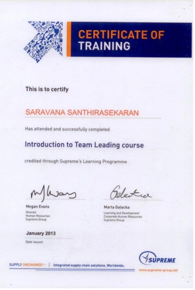 Saravana - Team leading