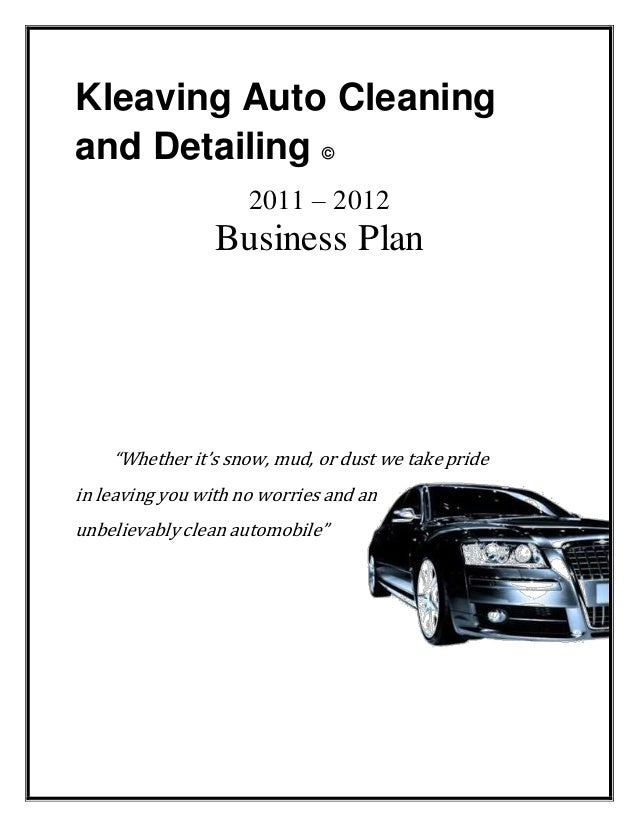 Auto Repairs And Maintenance Business Plan
