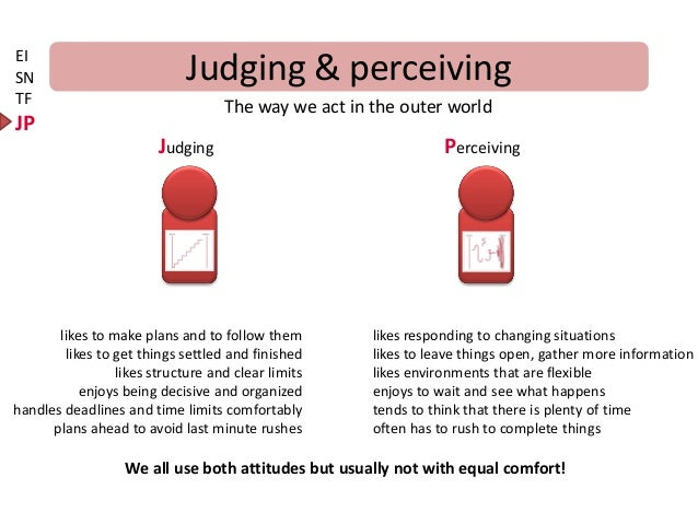 Judging or perceiving