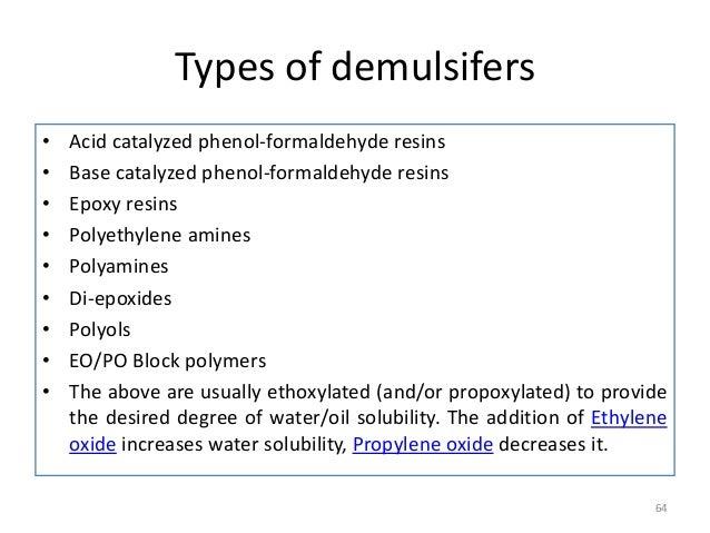 Demulsifiers-Specialty oilfield chemicals