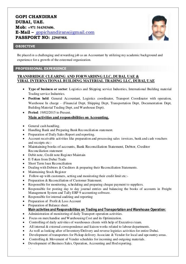 Awesome Dubai Accounting Resume Pattern - Best Resume Examples by ...
