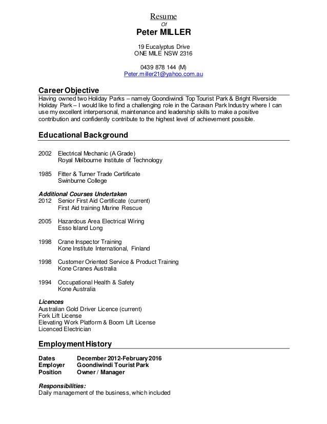 Resume-Peter Miller_2016 Resume - Copy