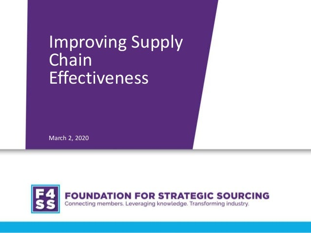 Presentation by Lora Cecere at the Foundation of Strategic Sourcing
