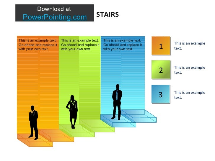 STAIRS 2 1 3 This is an example text. This is an example text. This is an example text. This is an example text. Go ahead ...