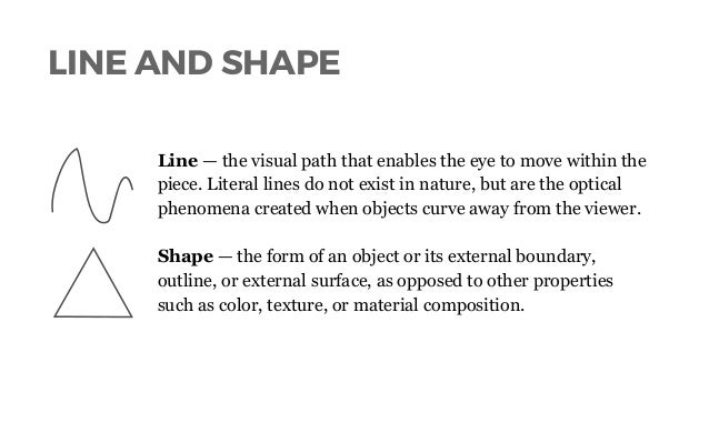 Lines And Shapes : Lines shapes in visual composition