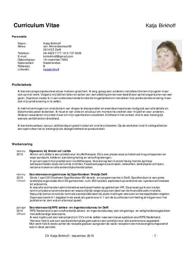 cv financieel administratief medewerker
