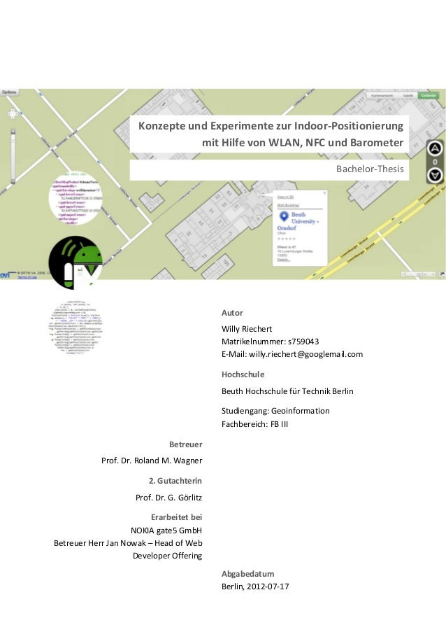 Autor Willy Riechert Matrikelnummer: s759043 E-Mail: willy.riechert@googlemail.com Hochschule Beuth Hochschule für Technik...