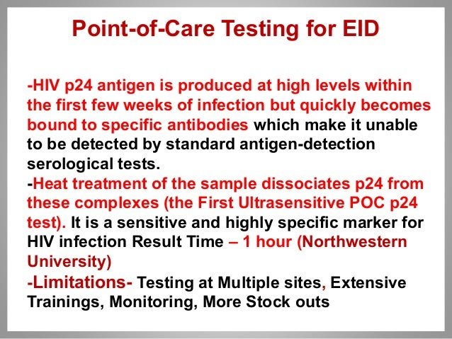 Early infant diagnosis of hiv 1 - Test hiv p24 periodo finestra ...