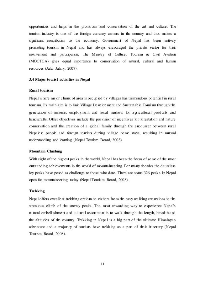 thesis on tourism industry in nepal Check out our top free essays on tourism in nepal to help you write your own essay.