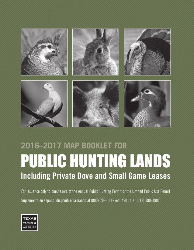 Tx Public Hunting Lands Booklet 16 17
